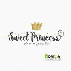 crown logo design princess logo design by stylemesweetdesign