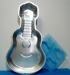 Guitar Party Aluminum Cake Pan and Flexible Mold by ThreeOldKeys