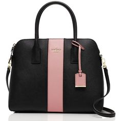 Kate Spade Cameron Street Racing Stripe Margot ($251) ❤ liked on Polyvore featuring bags, handbags, striped handbag, stripe purse, kate spade purses, stripe bag and striped purse