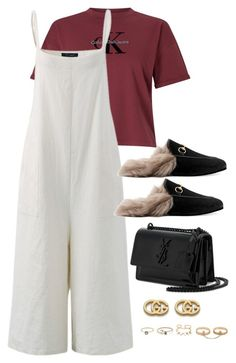 """Untitled #4275"" by magsmccray on Polyvore featuring Calvin Klein, Gucci, Yves Saint Laurent and LULUS"