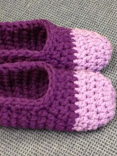 Beautiful Handmade Slippers. Purple and Lavender MADE TO ORDER on Etsy, $26.00