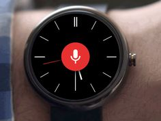 Android wear voice search : moto 360   dribbble
