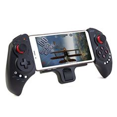 Smartphone Game Controller - Wireless Bluetooth 3.0 Gamepad Controller, compatible with iOS, Android, and ideal for playing pc games, controlling movies, streaming music, apps, navigation and more!