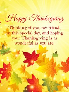 526 best thanksgiving greetings and a little humor images on thinking of you thanksgiving card for friends this beautiful happy thanksgiving card will add joy m4hsunfo