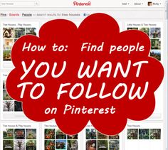 How to find the people YOU want to follow on Pinterest.  Who to follow on Pinterest?