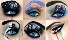 Artist continues to paint intricate designs onto her eyelid