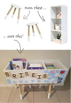Kmart Kids House Bookcase Hack Lovely Clever Kmart Hacks for Book and toy Storage Kid Toy Storage, Storage Hacks, Storage Ideas, Book Storage Kids, Playroom Storage, Pantry Storage, Smart Storage, Storage Cabinets, Storage Solutions