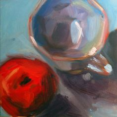 Apple with cup, inches, oil on panel, mary michaela murray Mary, Paintings, Oil, Apple, Inspiration, Apple Fruit, Biblical Inspiration, Paint, Painting Art