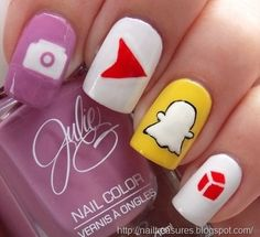 Teens sexted. | The Year 2013 As Told By Nail Art - the box would be cool in a stitched pattern