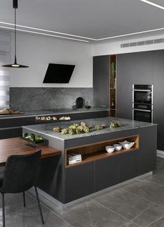 מטבחים כפריים : מאפייני מטבח כפרי, עיצוב ואווירה - Semel Kitchens Contemporary Kitchen Interior, Modern Kitchen Design, Kitchen Cabinet Colors, Kitchen Colors, Kitchen Dinning, Kitchen Decor, Black Kitchens, Home Kitchens, Kitchen Organisation