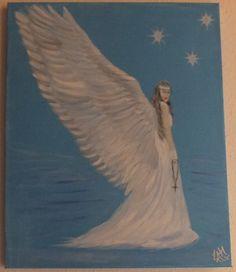 """Chrystel Winter Angel"" oil on canvas"