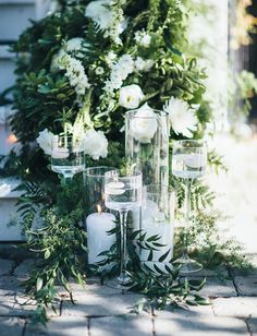 Backyard Fairytale Wedding with Monet Glass Candleholders from Accent Decor