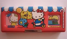 Hello Kitty 1985 Japanese pencil case.  My sister had a Hello Kitty and I still have mine.  One of my prized possessions!  -JAKR