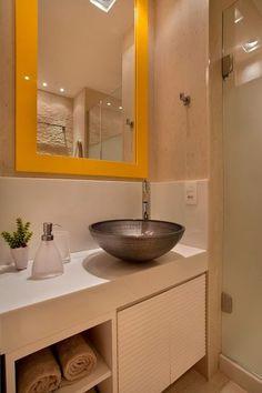 60 Banheiros Amarelos Decorados - Fotos Lindas!