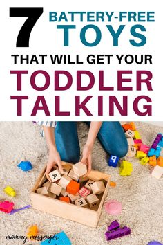 Pretend Play Ideas for Parents of Toddlers with Language Delay - How to Get Your Toddler Talking Using Dramatic Play Activities - 7 Battery-Free Toys That Will Get Your Toddler Talking Toddler Speech, Toddler Behavior, Toddler Toys, Baby Toys, Toddler Girl, Toddler Learning Activities, Parenting Toddlers, Parenting Hacks, Speech Delay