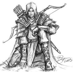 drawings of archer | Labyrinth Lord] New Alternate Ranger Class