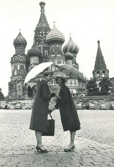 Models wearing Christian Dior in Moscow, circa 1959