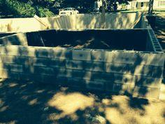 June 30, 2014 Rear porch block walls