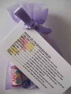 Mother of the Groom Survival Kit Novelty Gift by Honeybeeblessings, £4.99