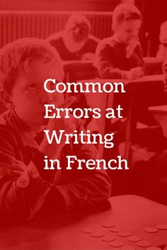 Common Errors at Writing in French