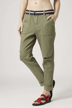 TOPSHOP Relaxed Utility Trousers