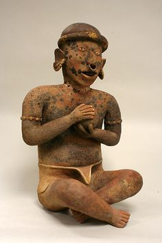 Seated Male Ancestor Date: 1st–4th century Geography: Mexico, Mesoamerica, Nayarit Culture: Nayarit Medium: Ceramic Dimensions: H. 19 7/8 x W. 12 1/4 in. (50.5 x 31.1 c