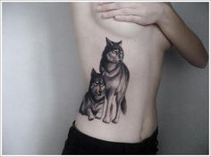 wolf tattoos with moon | many types of tattoo designs depicting wolves include the tribal wolf ...