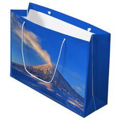#photo - #Scenic winter volcano landscape large gift bag