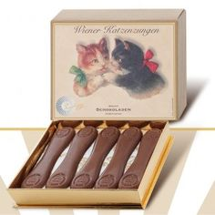 "Leschanz Viennese ""cat tongues"" full milk chocolate"