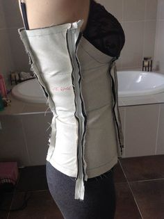 I am sewing my own wedding dress, this post covers the development of the most technical element (corselet) from paper to first fitting.