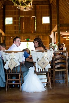 Emily and Hunter got married at Fairview Farm and I LOVED her special Mr. and Mrs. so the farm has them now!