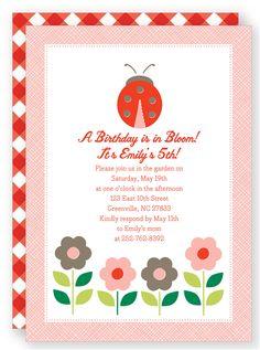 Ladybug - Kids Birthday Party Invitation
