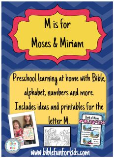 Preschool Alphabet: M is for Moses