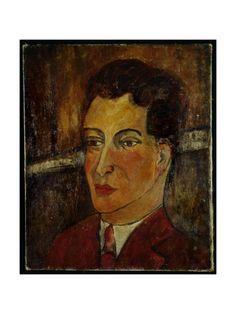 Portrait of Bisceglia (Portrait of a Young Man), c.1909 Lámina giclée por Amedeo Modigliani en AllPosters.es