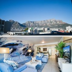 Planning a trip to the beatiful Mother City? 502 Flatrock offers stunning views and inspiring decor that will make your trip even more memorable! Table Mountain, Stunning View, Cape Town, How To Memorize Things, Magic, How To Plan, City, Outdoor Decor, Inspiration