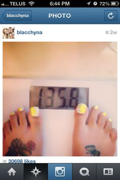 Blac Chyna toes though