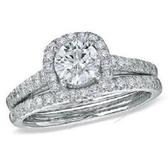 Round Cut White Diamond 925 Silver 1.15 Carat Solitaire Accents Bridal Ring Set #aonedesigns