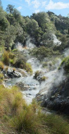 Steaming Waimangu Stream (Waimangu Volcanic Valley) - NZ