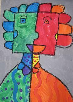 First Grade Picasso/cubism