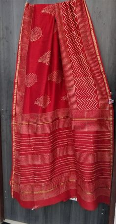Exclusive New Hand Block printed chanderi silk sarees - Elegant Fashion Wear