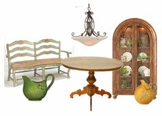 Tuscan Style Kitchen and Dining pieces