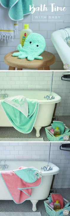 Need a baby shower gift idea? These bath time sets, brought to you by Hallmark and JOHNSON'S® are a wonderful way to make bath time for a baby extra special. Add his or her name to the personalized bath towel hoodie, sure to become a cherished keepsake.