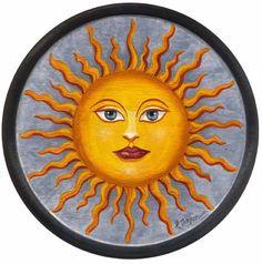 here comes the sun ♥ Die und der Sun Moon Stars, Sun And Stars, Vincent Van Gogh, Sun Worship, Sun Painting, Happy Hippie, Sun Designs, Good Morning Sunshine, Sun Art
