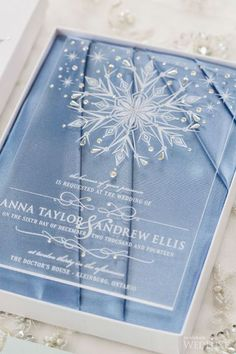 winter wedding Stationery can add a cool flavor to your wedding, so choose and design it carefully. If you are preparing for a winter celebration, I guess youve already . Acrylic Wedding Invitations, Winter Wedding Invitations, Wedding Stationary, Wedding Invitation Cards, Wedding Cards, Invites, Frozen Wedding Theme, Wedding Themes, Frozen Theme