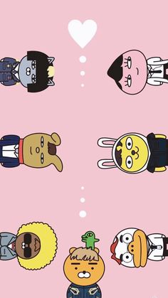 카카오프렌즈 Wallpaper Fofos, K Wallpaper, Kawaii Wallpaper, Angel Illustration, Graphic Illustration, Apeach Kakao, Kakao Friends, Cartoon Toys, Monkey King