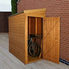 Cleveland Small Shed (1.83m x 0.96m) Universal Door - Narrow Pent Store - Garden