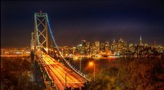 San Francisco at night from #treyratcliff at www.StuckInCustom.com - all images Creative Commons Noncommercial.
