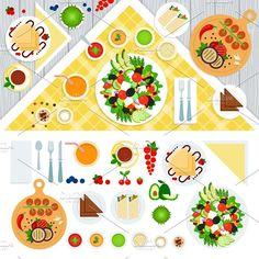Vegeterian food - Illustrations