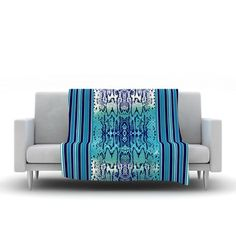 FREE SHIPPING! Shop AllModern for KESS InHouse Aqua Snake by Nina May Fleece Throw Blanket - Great Deals on all  products with the best selection to choose from!