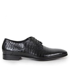 9530b98f06e Hugo Boss Black Mens Black Florco Moc Croc Leather Shoes found on Polyvore  featuring polyvore